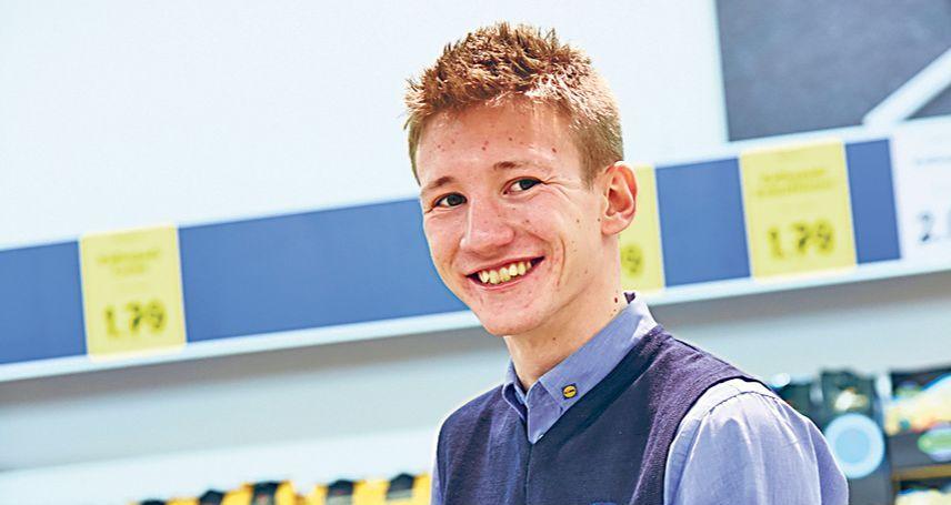 Florian Weniger, dualer Student bei Lidl in Freiburg. Thema: Ausbildung im Einzelhandel