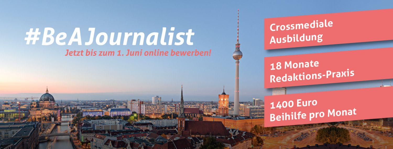 Anzeige #BeAJournalist