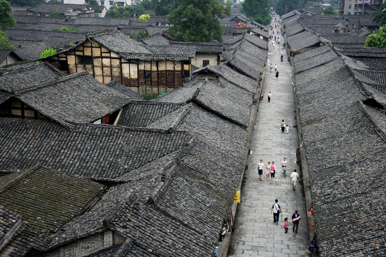 Ein chinesisches Dorf in der Aufsicht. Thema: Internationale Karriere